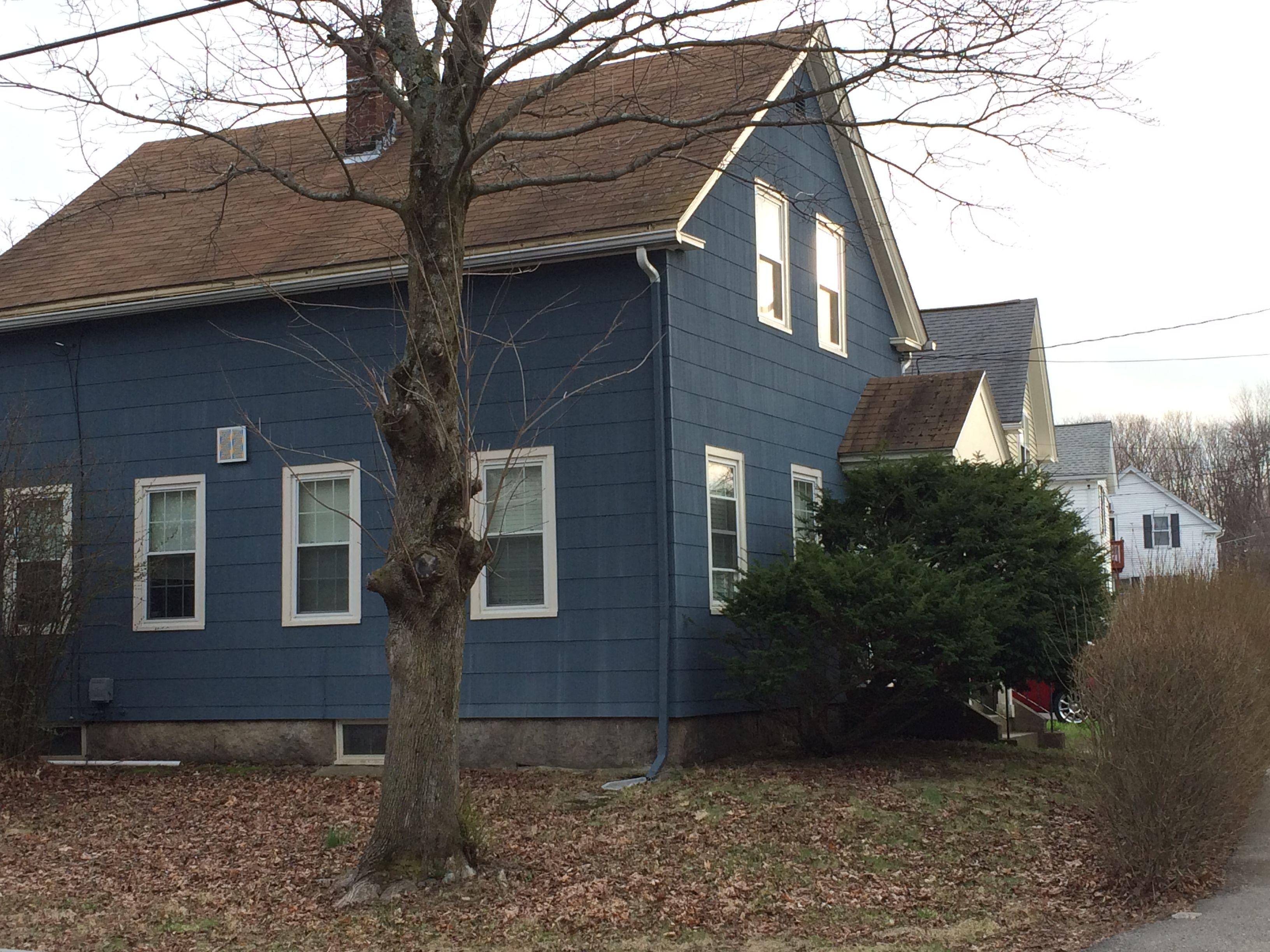 Dark Blue Asbestos Siding Historic Homes Westborough Ma
