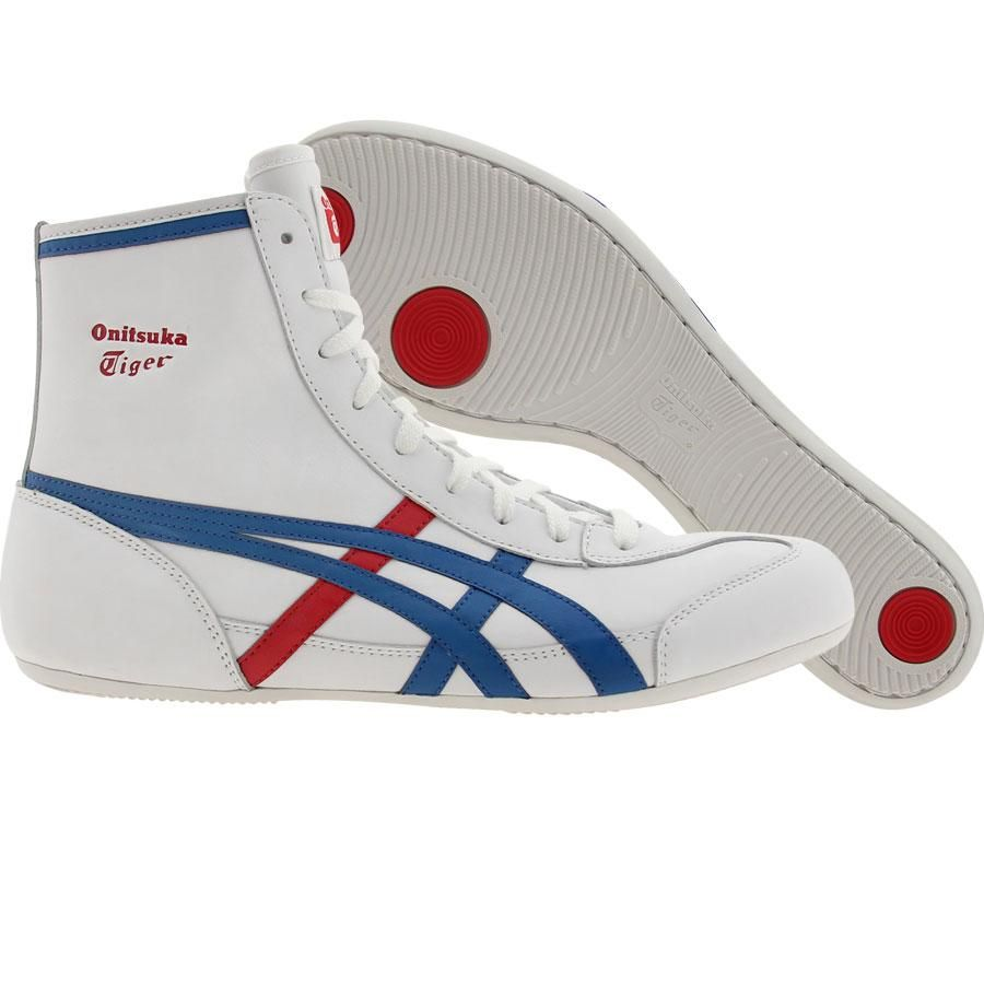 White Asics Tigers Wrestling Shoes