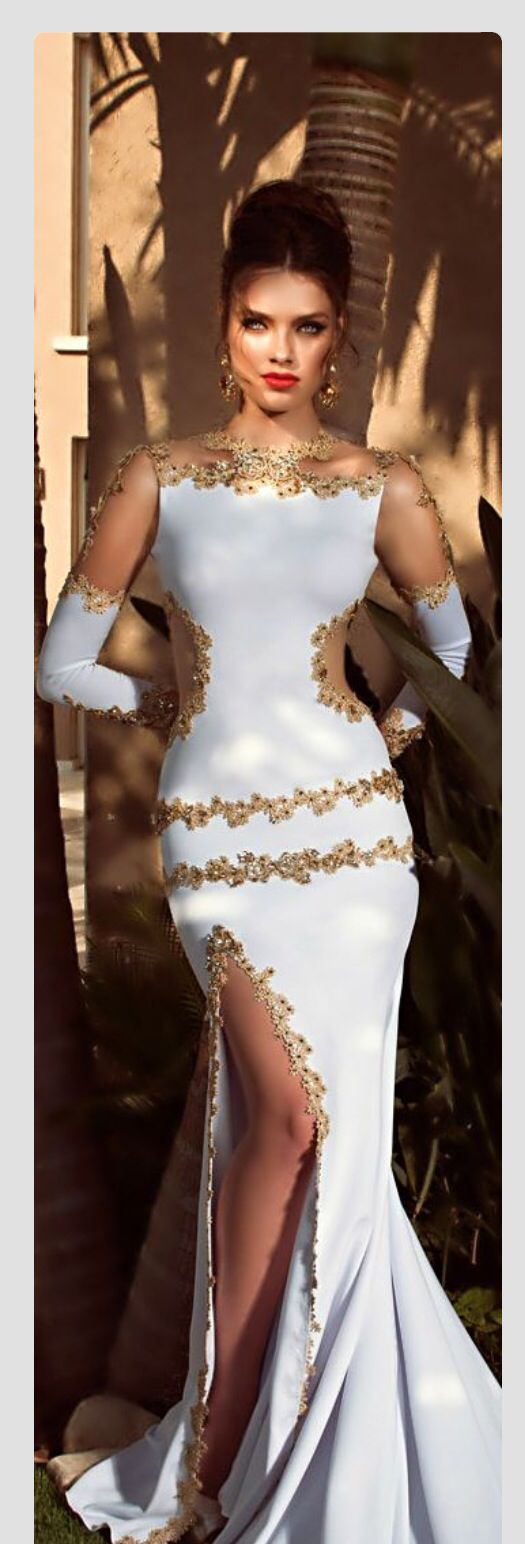 White and gold alta costura pinterest gold gowns and white