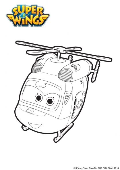 3rd birthday wings colors - Sprout Super Wings Coloring Pages