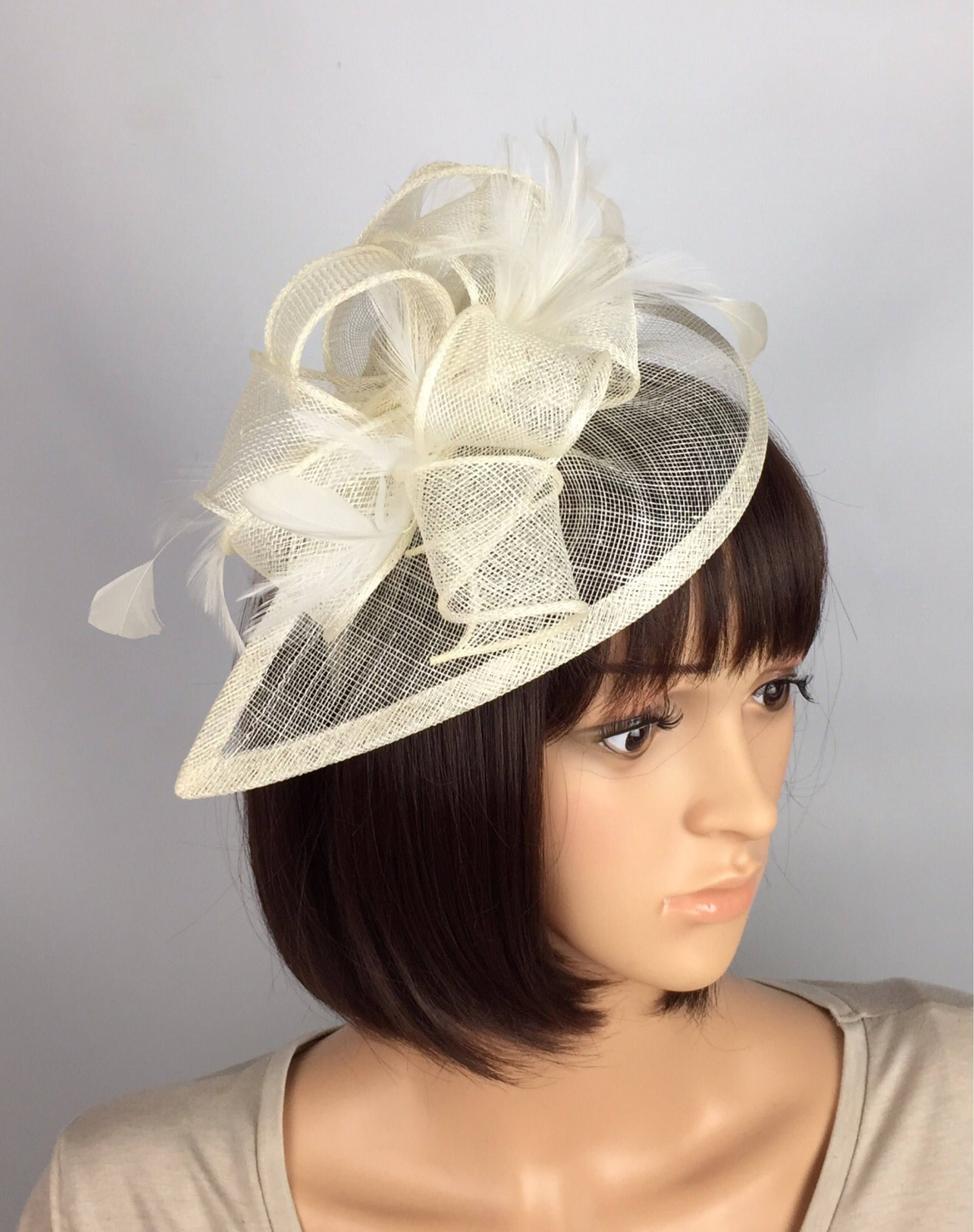 Fascinator NEW Cream Ivory Headband Hatinator Hat Wedding Races Formal Ladies