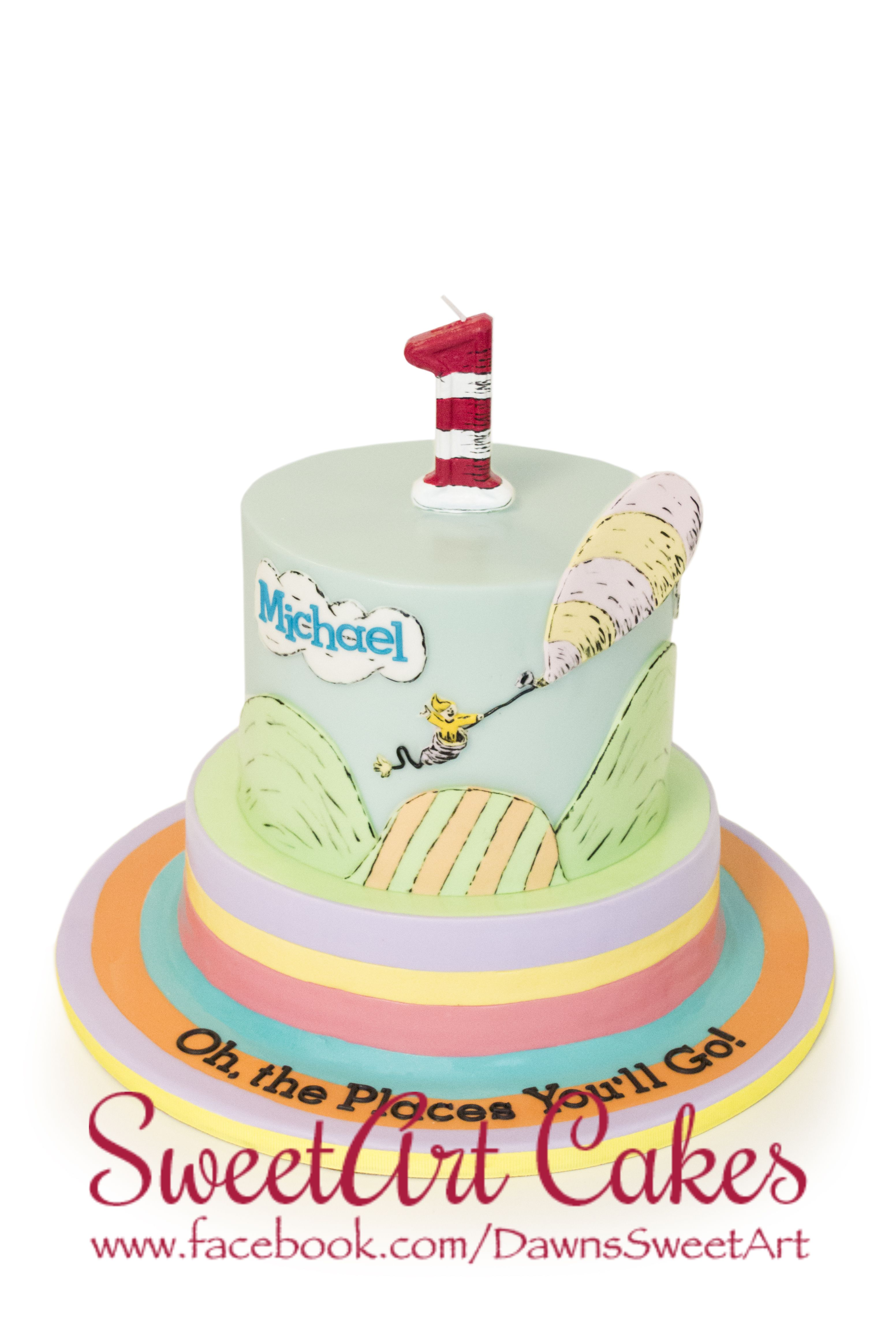 Astonishing First Birthday Cake Birthday Cake Oh The Places Youll Go Personalised Birthday Cards Veneteletsinfo