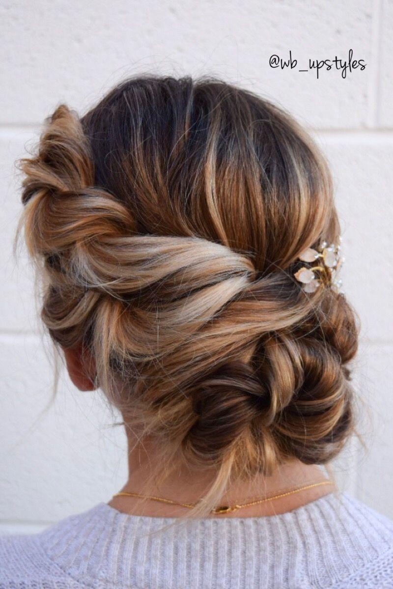 twisted undone hairstyle. beautiful wedding updo. rope braided