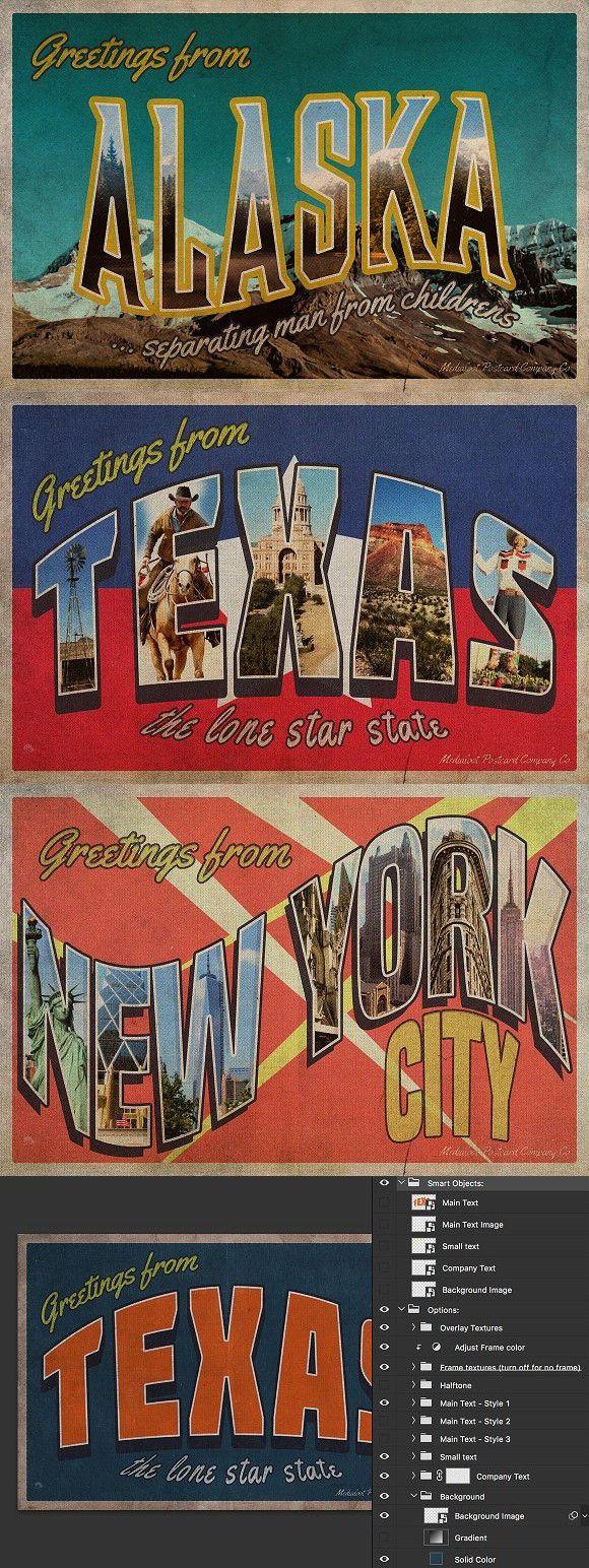 Vintage Greetings Postcard Generator Pinterest Generators