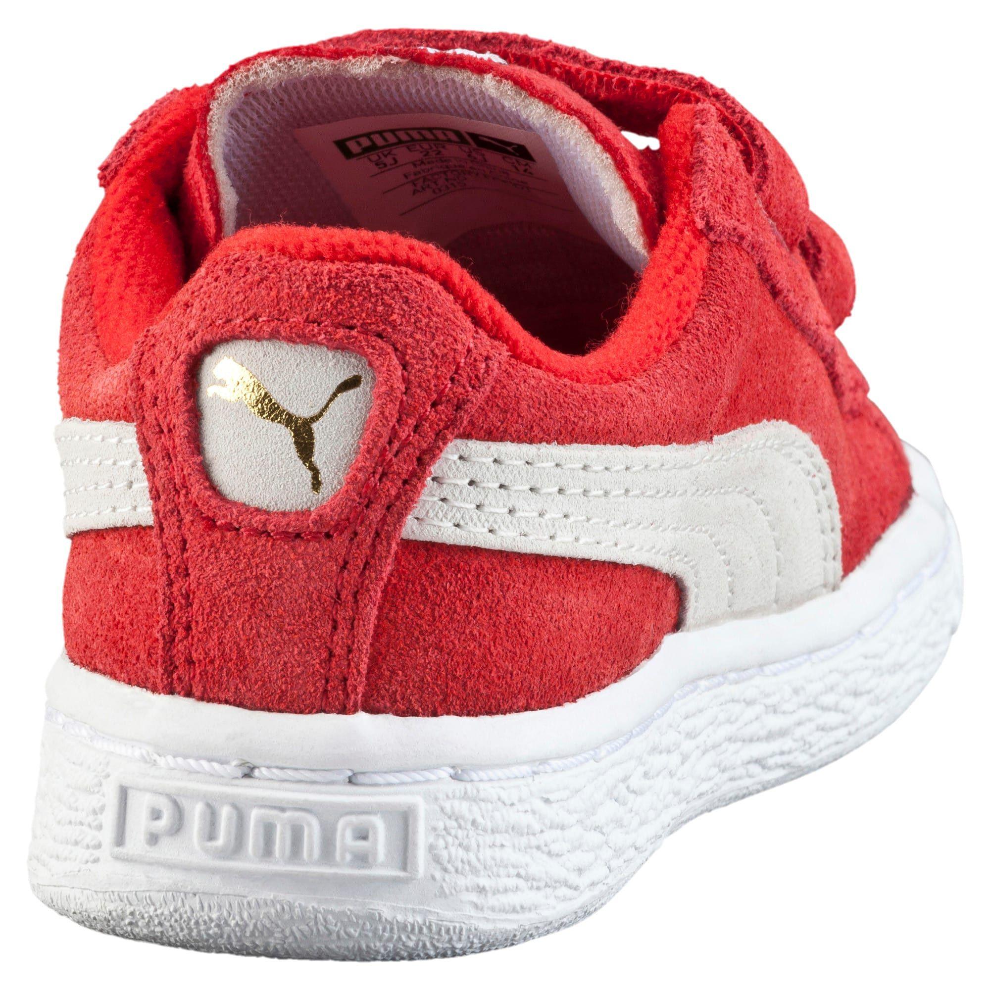 PUMA Suede 2 Straps Trainers in High Risk RedWhite size 4.5