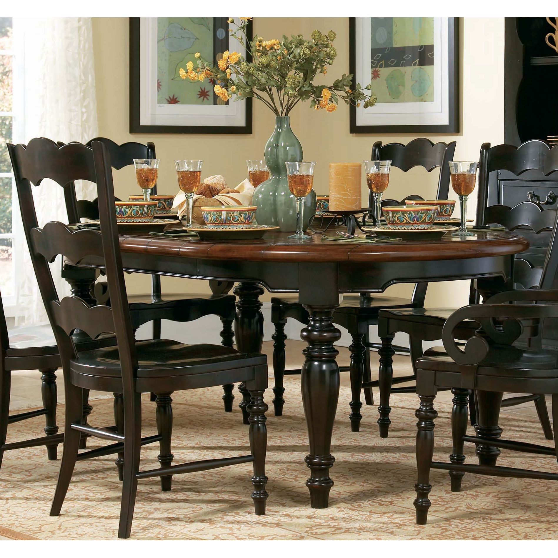 Hooker Furniture 495 75 200 Centre Street Round Dining Table Home Decorating Pinterest