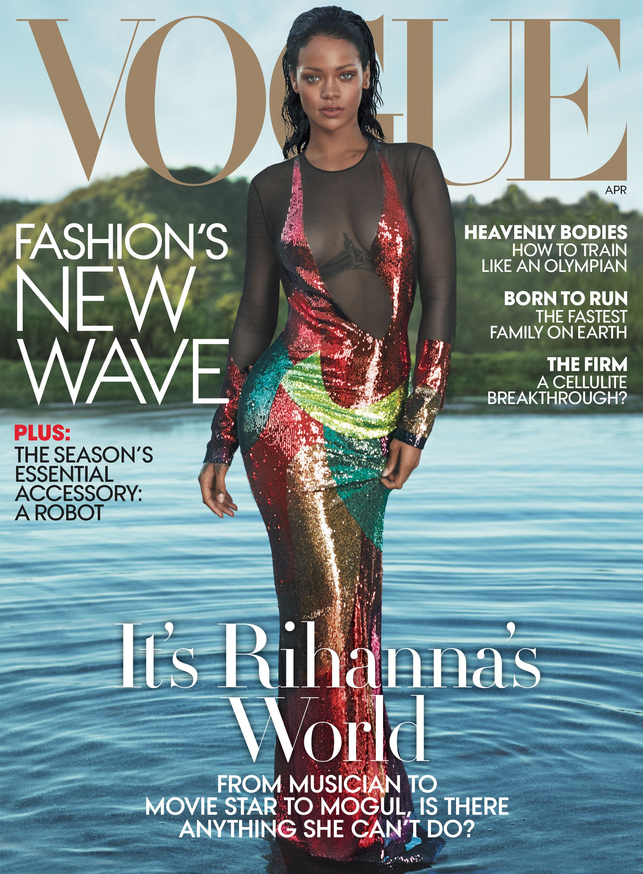 vogue cover Rihanna magazine