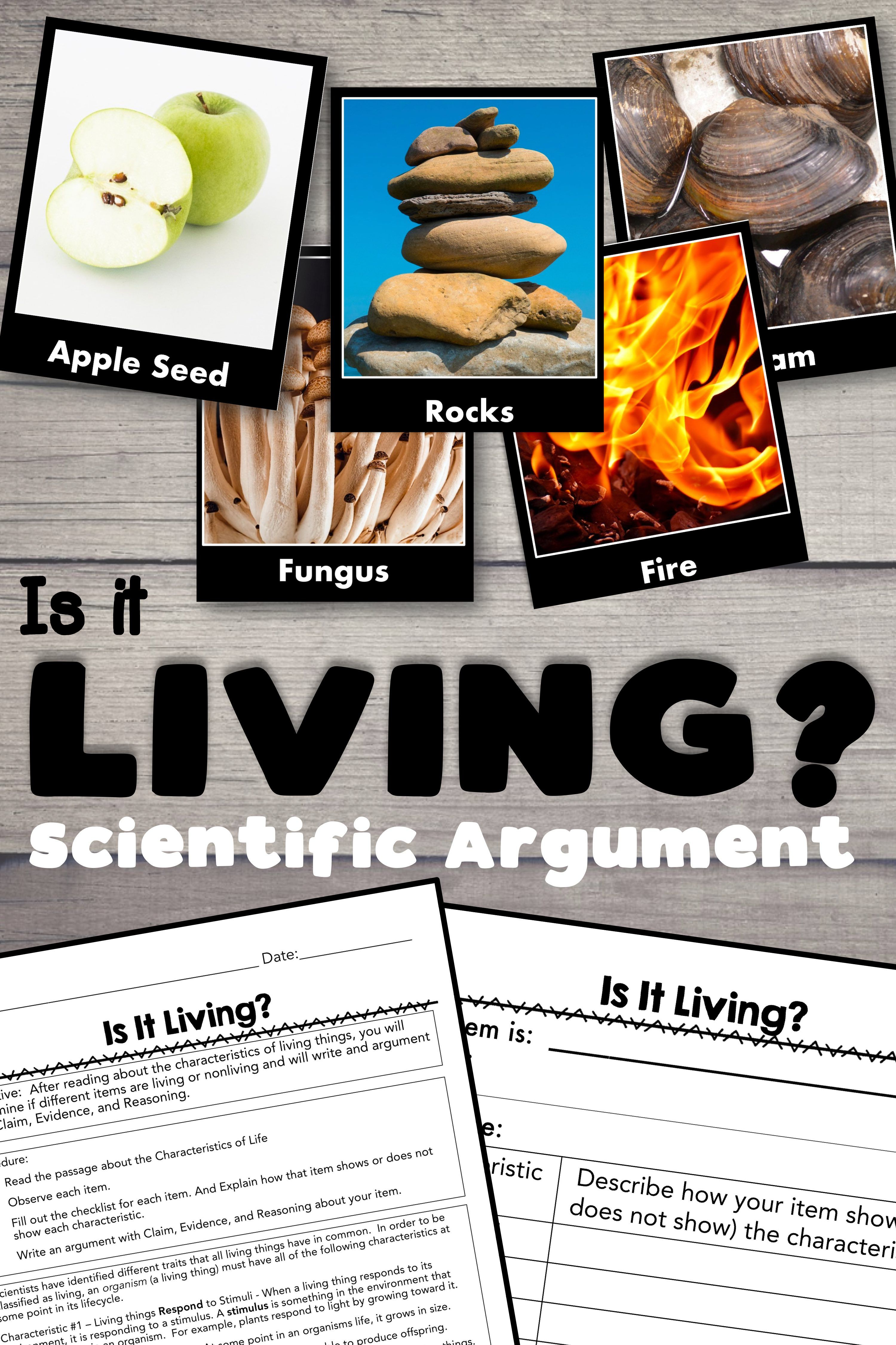 Characteristics Of Life Scientific Argument With Claim