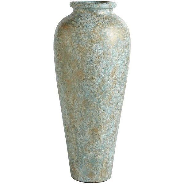 Pier 1 Imports Blue Green Patina Urn Floor Vase 140 Liked On