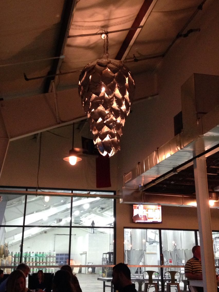 Hop shaped light fixture at unknown brewing charlotte nc cooldecor