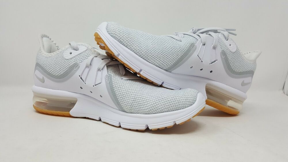 Nike Air Max Sequent 3 White Silver 908993 101 Running