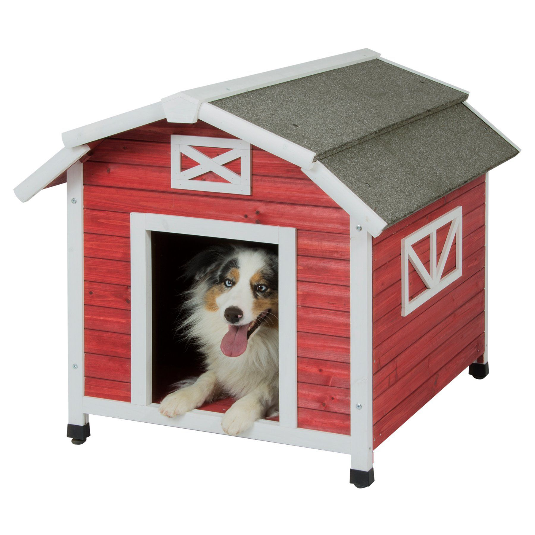 Precision Pet Barn Dog House For Large Dogs 7027120 Products Dog Houses Large Dog House Cool Dog Houses
