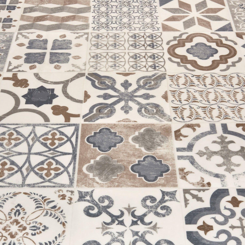 Platinum Almeria Blue Vinyl Vinyl flooring, Tile effect