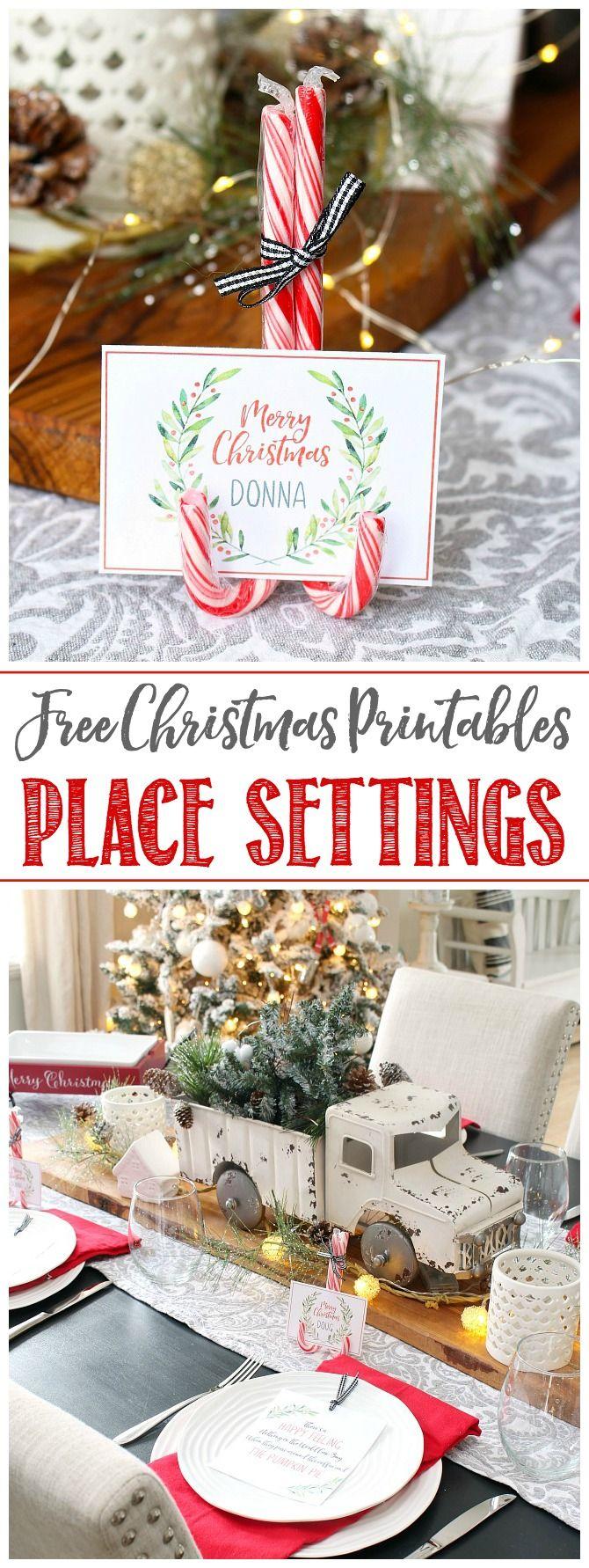 Christmas Printables - Free Printable Christmas Place Cards   I\'ll ...