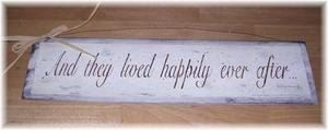 And They Lived Happily Ever After Wooden Wall Art by melimarlatt, $11.99