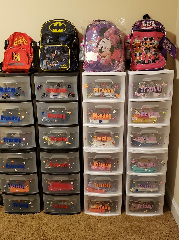 Kids Bedroom Organization