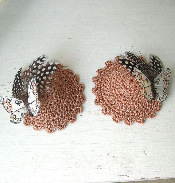 Crochet Nipple Pasties  Burlesque by Guerillagranny on Etsy, $20.00