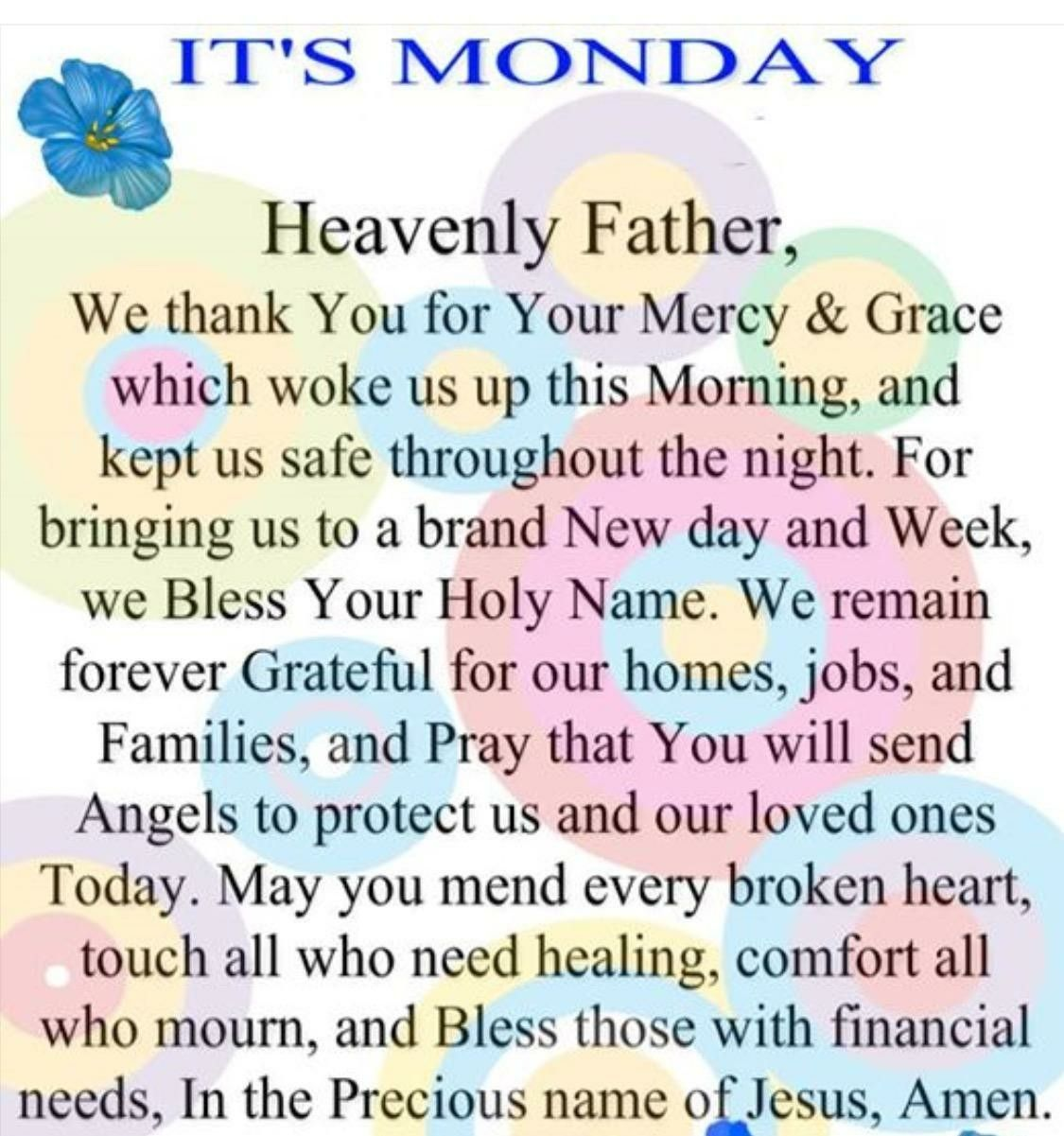 Monday Prayer Images