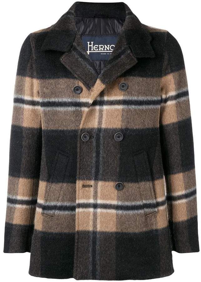 new items big sale stable quality Herno plaid peacoat | Products | Plaid, Herno, Men sweater