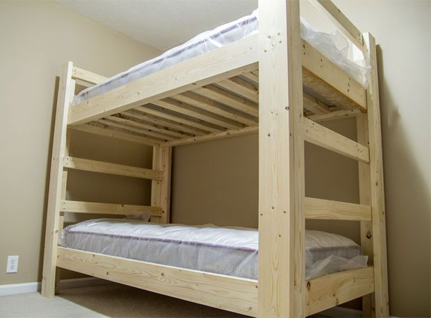 Easy And Strong 2x4 2x6 Bunk Bed Bunk Bed Plans Bunk Beds