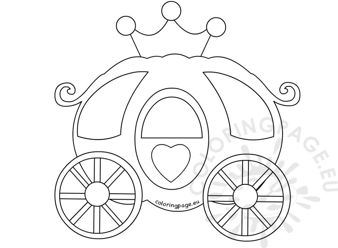 Princess Carriage Coloring Page