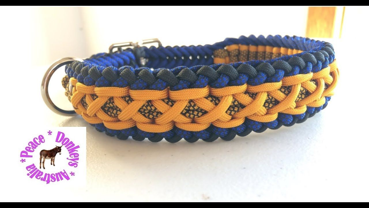 Modified Sanctified Criss Cross Adjustable Paracord Dog Collar