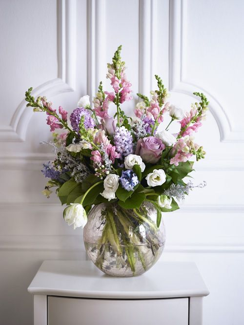 A Round Vase Is Perfect For A Table Centrepiece Or As A Finishing
