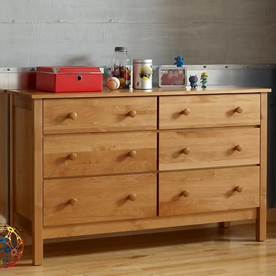 Simple 6 Drawer Dresser Natural The Land Of Nod Simple