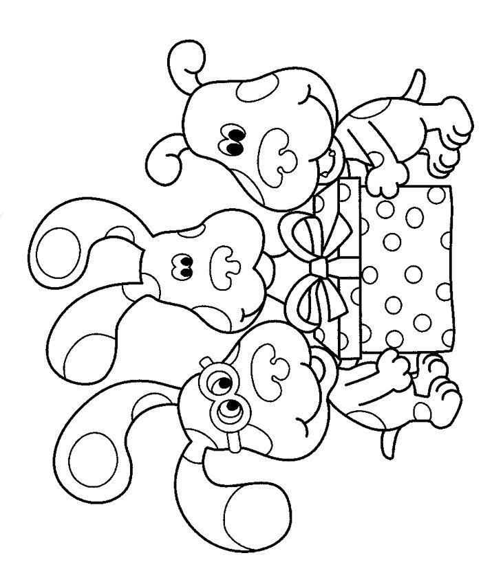 Blues Clues Birthday Present Jpg 731 834 Pixels Birthday Coloring Pages Blues Clues Coloring Pages