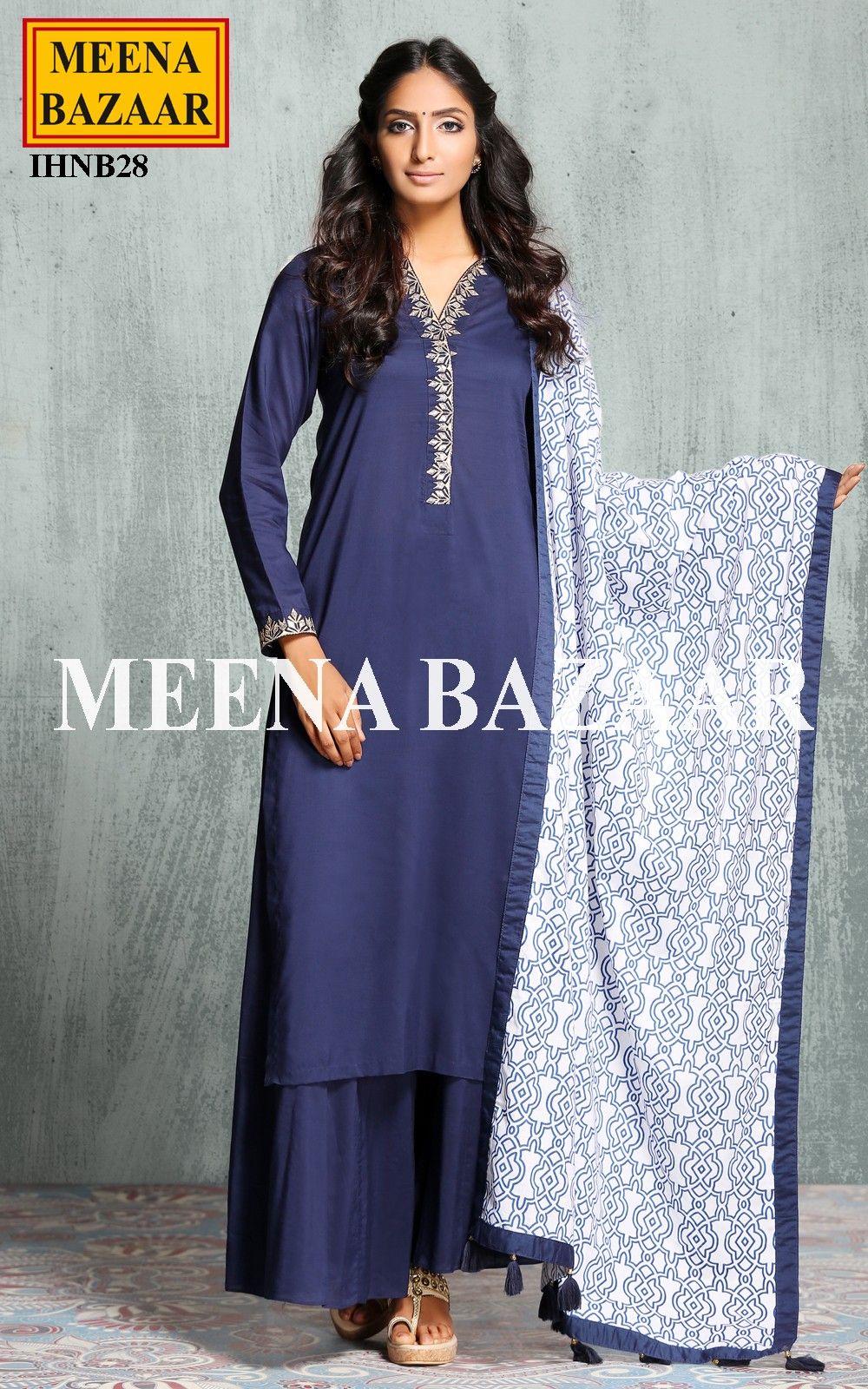 Blue Kalidar Sharara Suit Online Shopping For Ethnic Wear Buy Jfashion Etchnic Long Tunik Fashion Elegan Shareen Designer Sarees Lehengas Anarkali Suits Salwar Suitskurtisgowns Meenabazaarcom