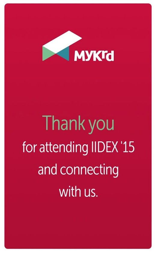 Thanks to everyone who attended #iidex15 and hung out with us - we can't wait to see what you create with our app!