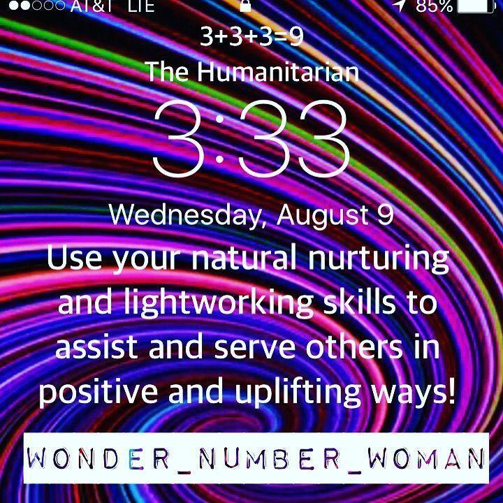 33 angelnumber wonderwoman numerology Instagram