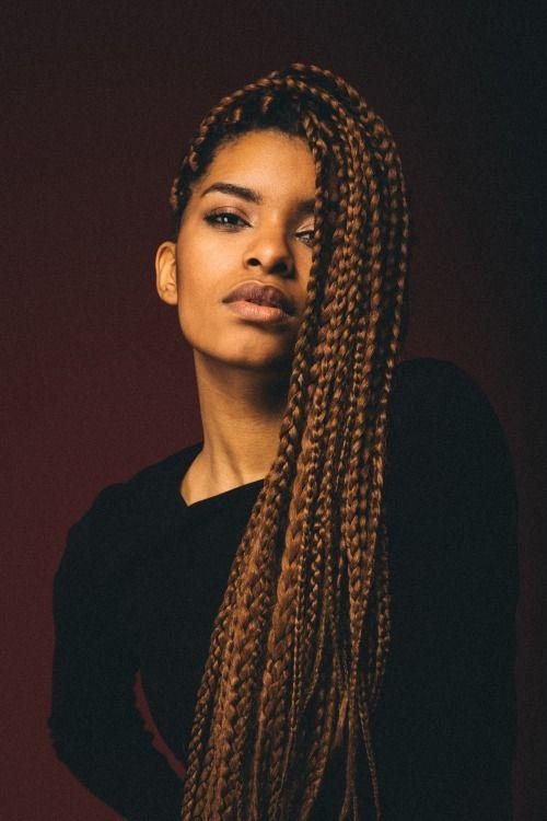 Photo Very Nice Long Golden Braids Black Women - Ethiopian hipster hairstyle