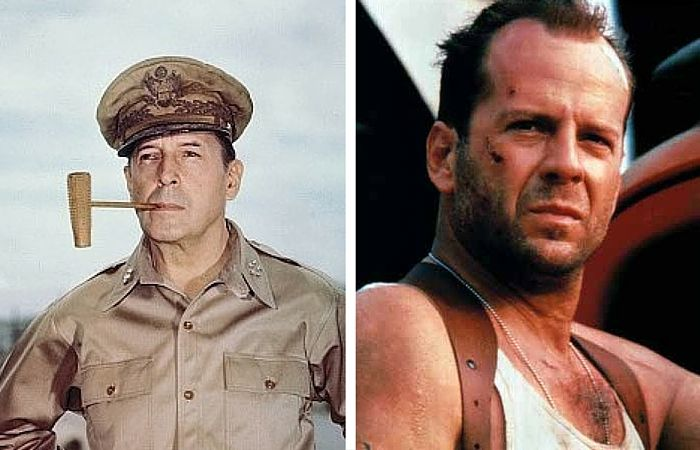 Image result for bruce willis and douglas macarthur