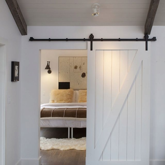 Barn Style Interior Doors Painted In An Offset Grey Shade Used To