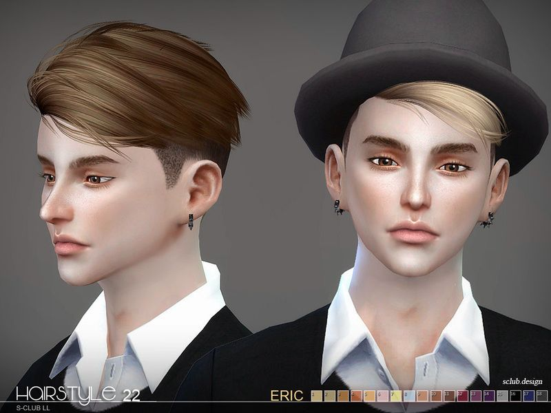 The Short Hair For The Sims 4 Male And Female Found In Tsr Category 39 Sims 4 Male Hairstyles 39 Sims Hair Sims 4 Hair Male Boy Hairstyles
