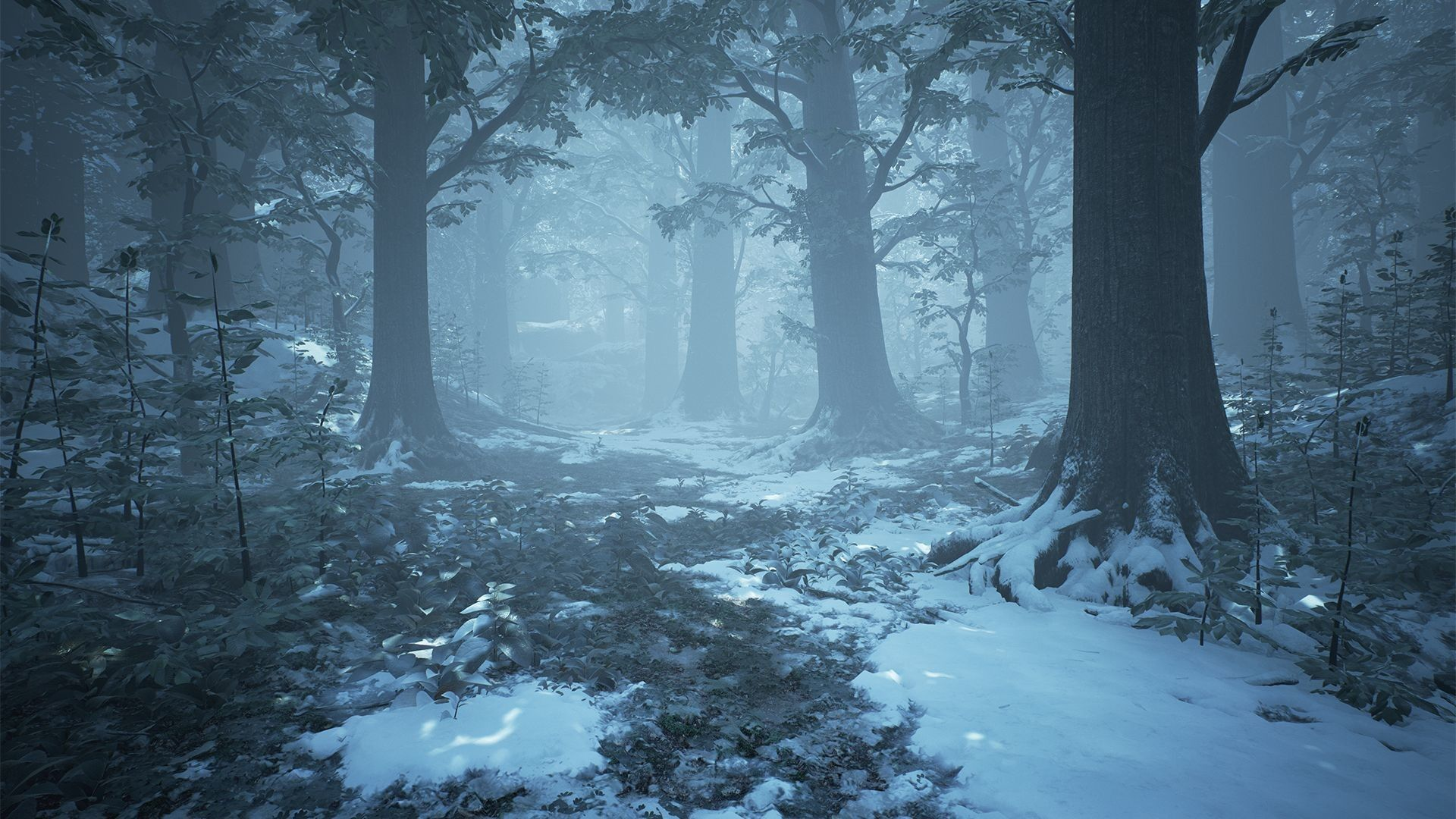 Lonely Girl Hd Wallpapers 1080p Artstation Ue4 Winter Forest Willi Hammes