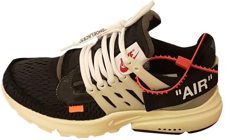 24caadbcc3c8 Nike X Off White Presto Black Cloth Trainers