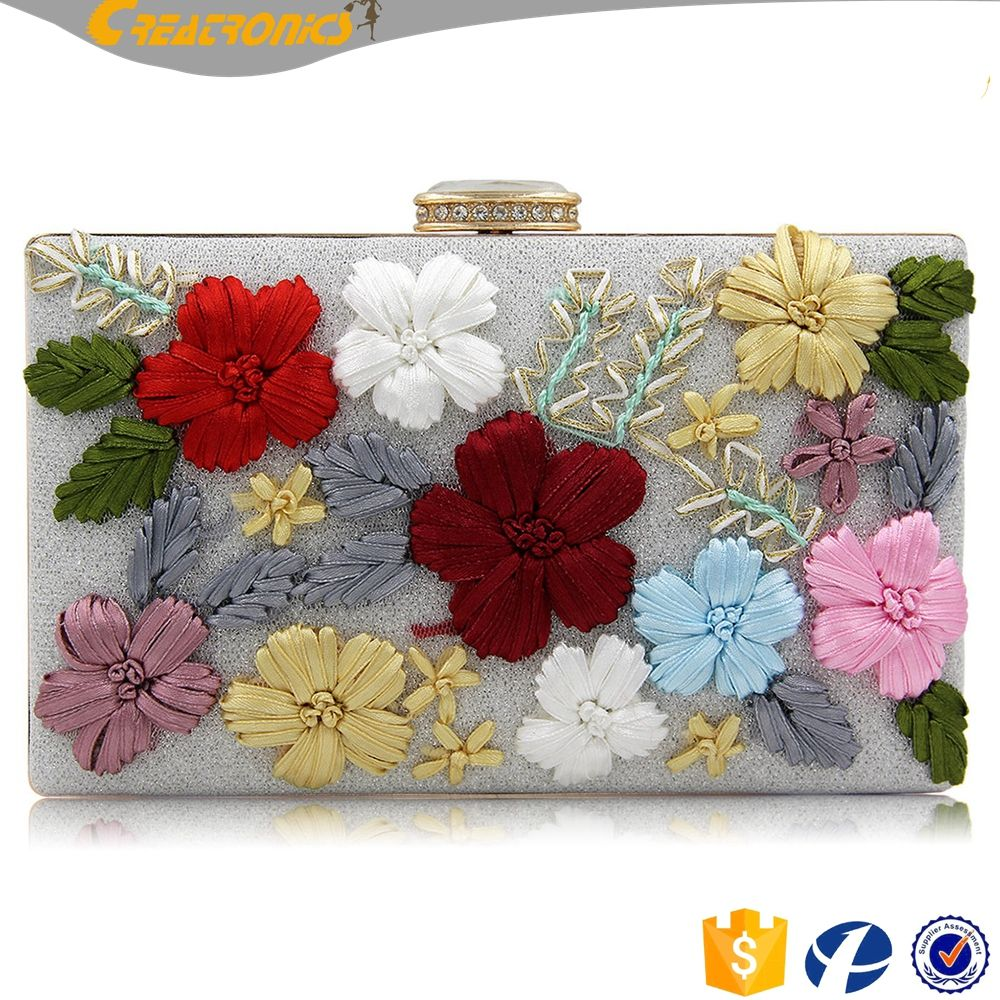 04daa4156bd9 CR More than 80% customer repeat order flowers printed custom patterns envelope  bags new design fancy ladies clutch hand purse