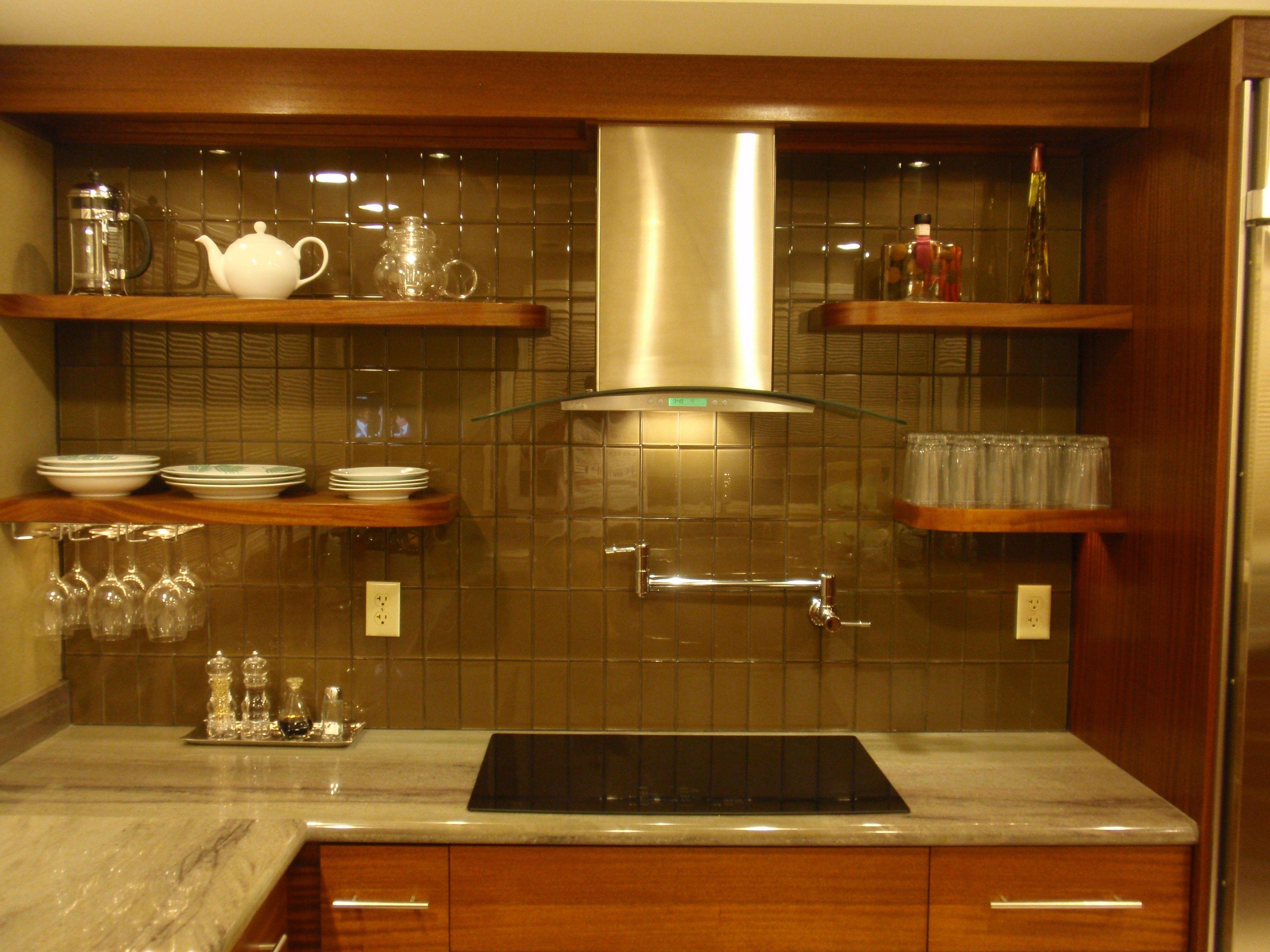 Lush Truffle 3x6 Rich Brown Glass Subway Tile Kitchen Backsplash