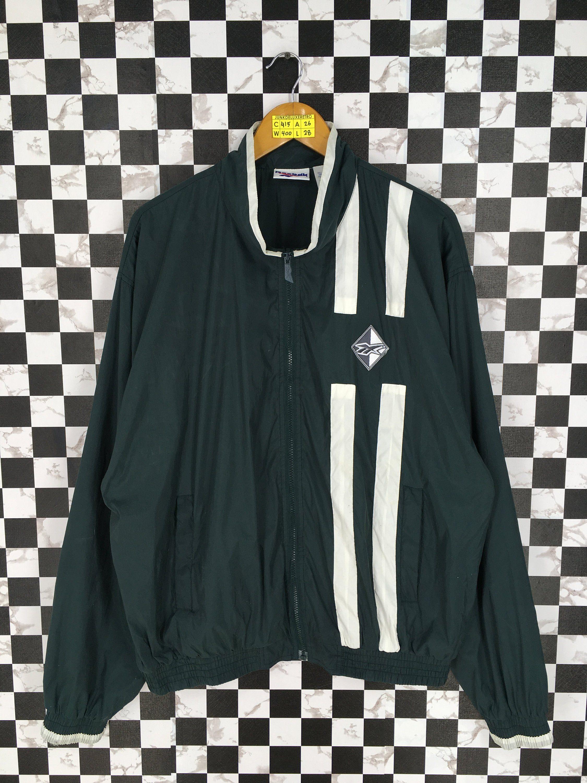 73ec93308f79e Vintage 1990's REEBOK Windbreaker Jacket Large Reebok Sportswear ...