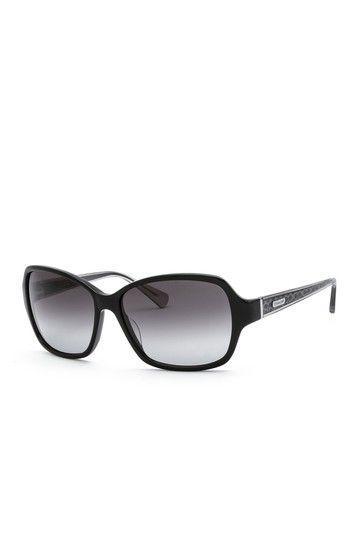 Coach Women's Black Plastic Frame Sunglasses