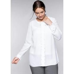 Photo of Tallas grandes: blusa con ribete y corbata, blanco, talla 58 Sheego