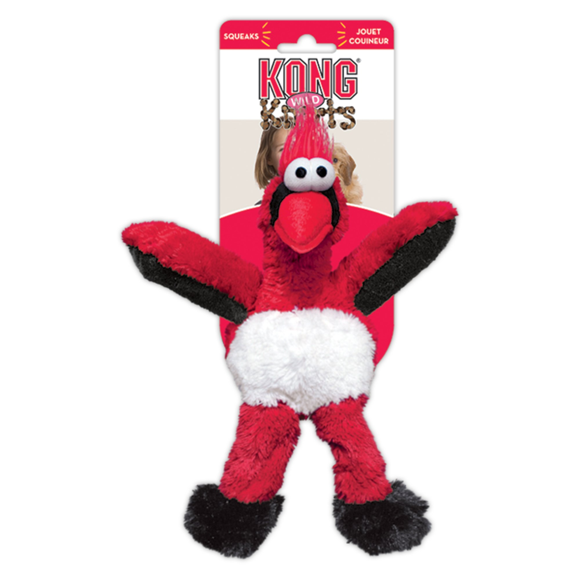 Kong Wild Knots Cardinal Dog Toy Small Red Dog Toys Plush