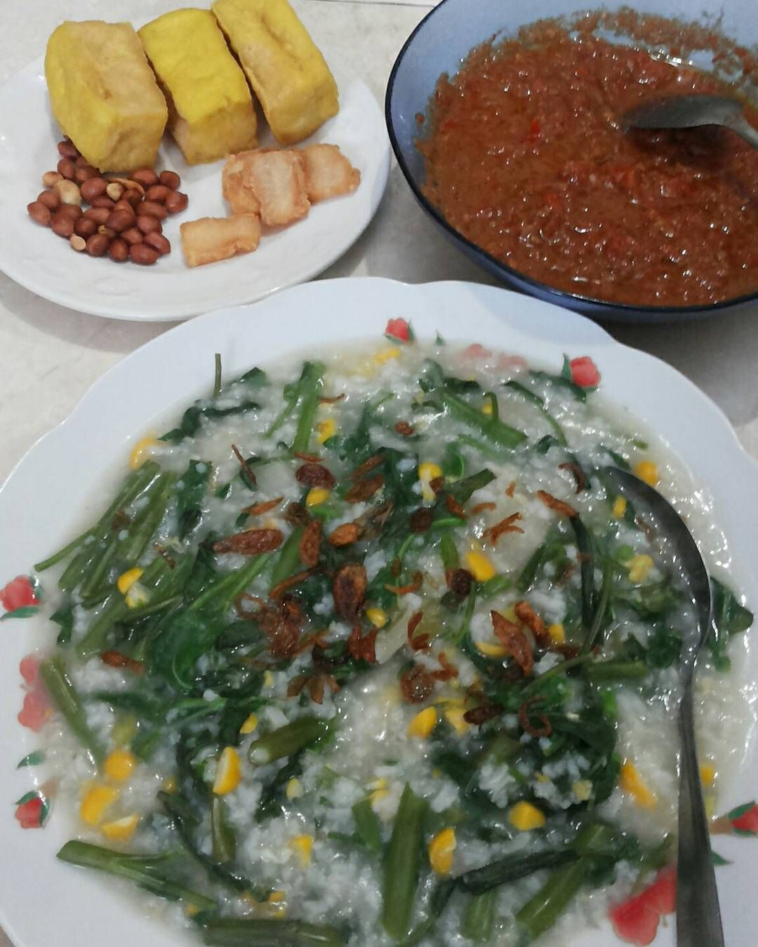 Edisi Kangen Makanan Kampung Trus Masak Sendiri Aja Beginilah Kacang Ayu 250gram By Bali Penampakkan Bubur Manado Dibawah Tumpukkan