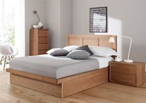 Oakland Ottoman Storage Bed Light Wood Wooden Beds Beds Bed Frame With Storage Platform Bed With Storage Platform Bed With Drawers