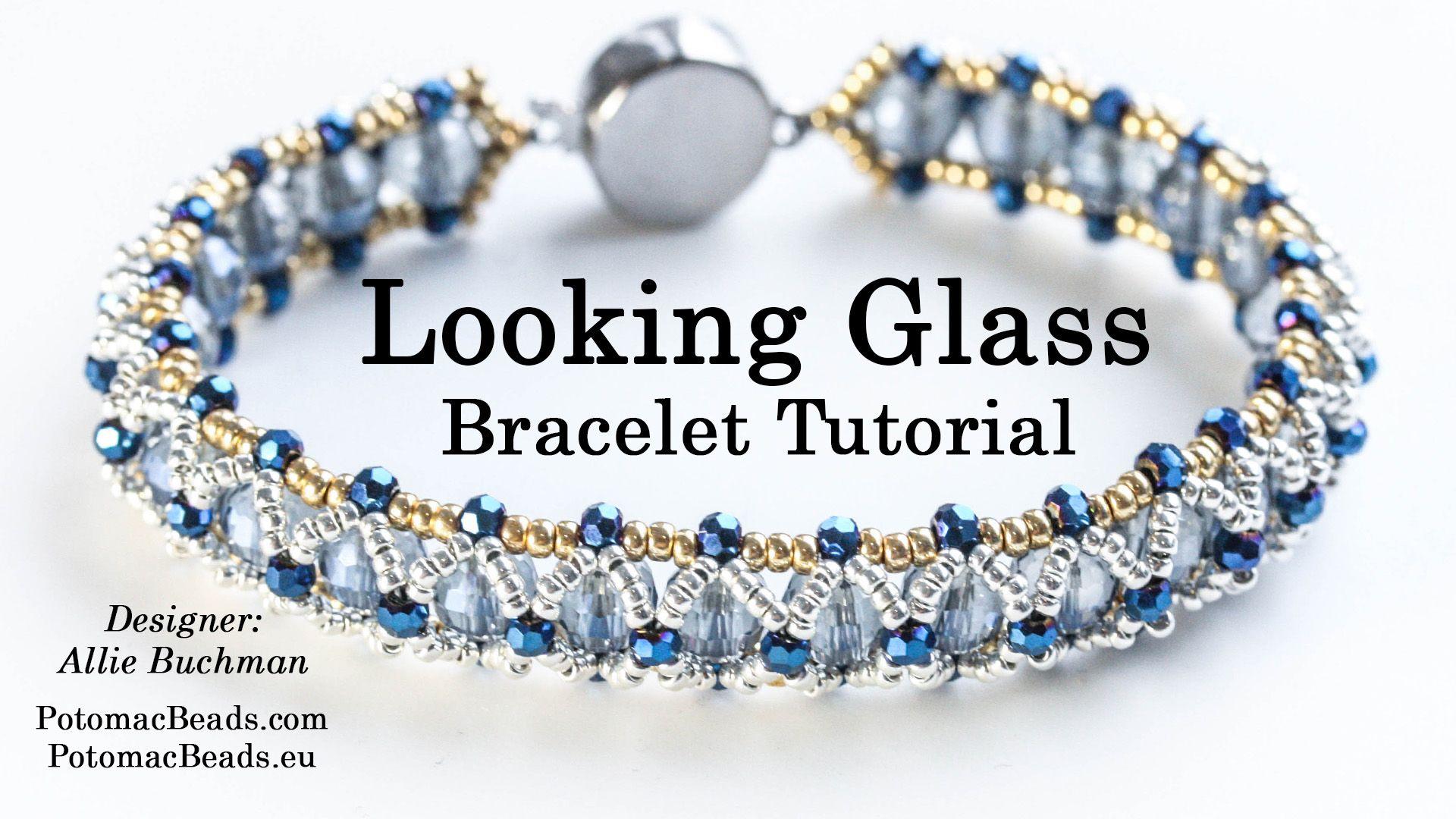 Looking Glass Bracelet Beaded Bracelets Bracelets Handmade Beaded Beaded Bracelets Diy