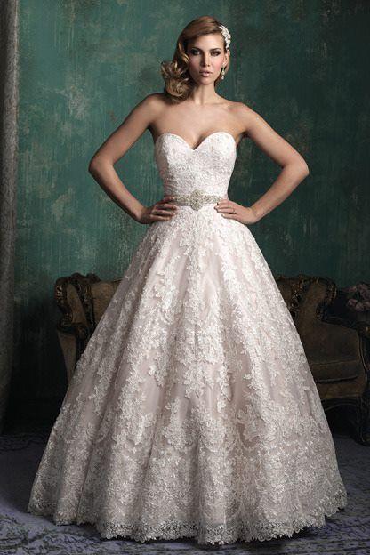 Gorgeous lace ballgown wedding dress