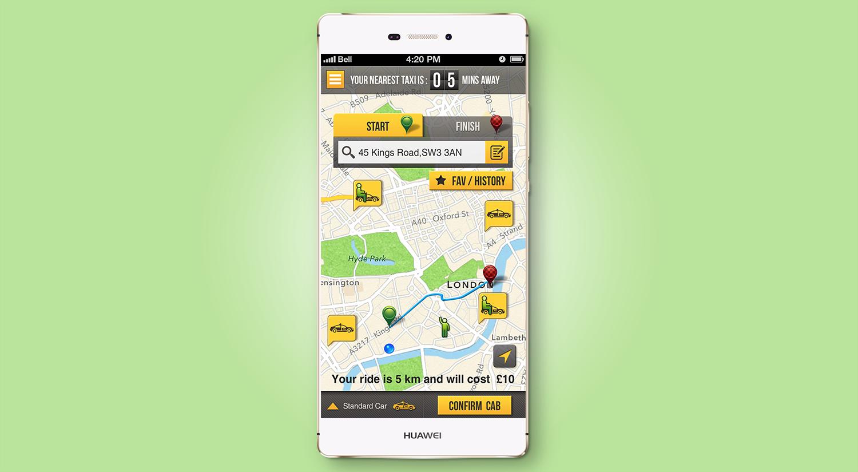 Cabeze Passenger Android App App development, App, Ios