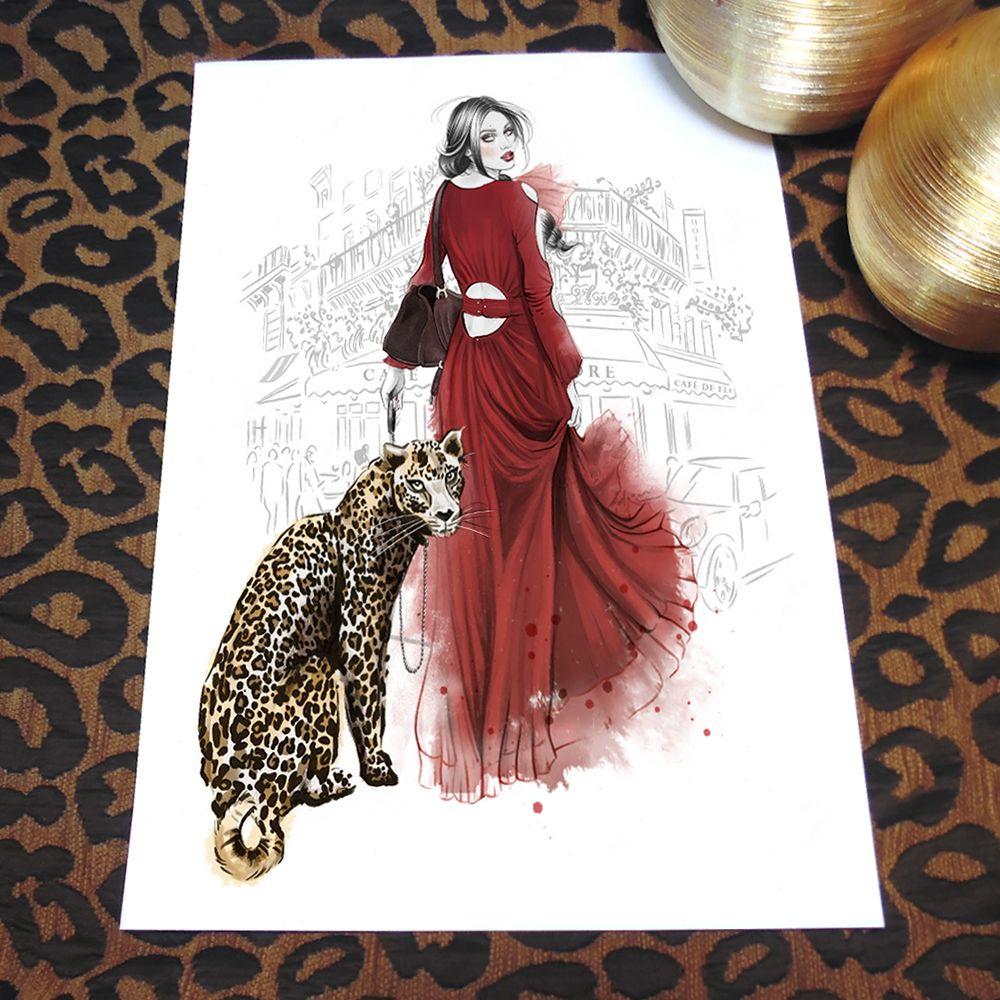 'Petit Leopard' print by © Cristina Alonso. Shop: http://cristinaalonso.bigcartel.com/